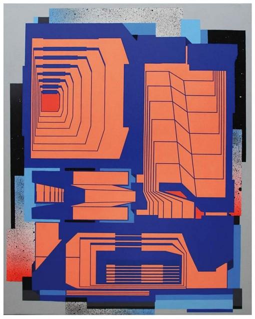 Dems,-Doublas,-Acrilique-sur-bois,-100-x-80,6cm,-2014,-2200eur