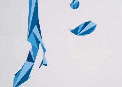 SHERIO-curved-line-03-(Melissa),-Aerosol-sur-toile-100-x-81-cm,-2018-Courtesy-Adda-&-Taxie-Gallery